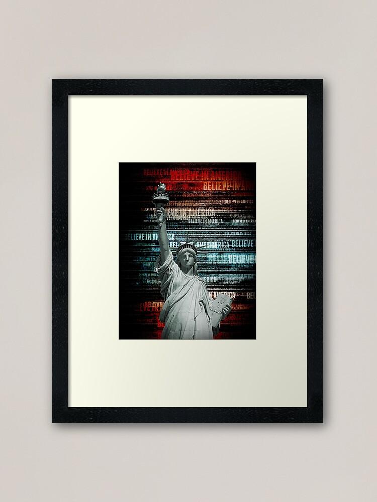Alternate view of Believe In Liberty Framed Art Print