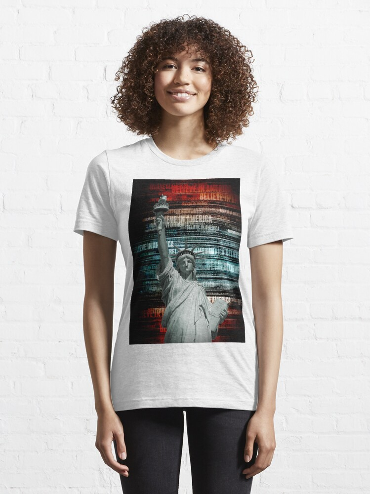 Alternate view of Believe In Liberty Essential T-Shirt