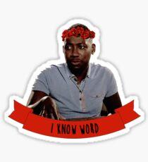 Winston   I Know Word Sticker