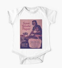 Vintage poster - Save Waste Paper One Piece - Short Sleeve