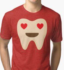 Teeth Heart and Love Eyes Tri-blend T-Shirt