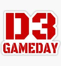 D3 Gameday Sticker