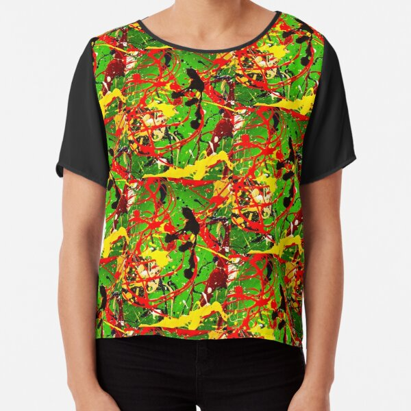 ABSTRACT POPART COLORFUL DESIGN - SPIRALS  Chiffon Top