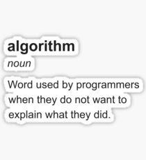 algorithm Sticker