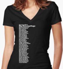 Big McLargeHuge Women's Fitted V-Neck T-Shirt