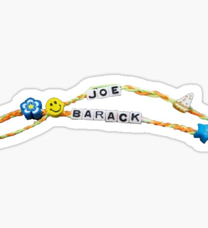 Joe and Barack Friendship Bracelets Sticker