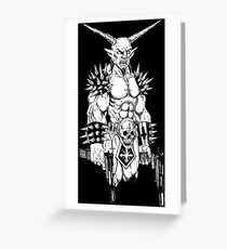 Goatlord Hitlist Black Greeting Card