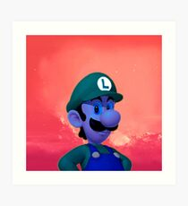 Luigi - Coloring Book Art Print