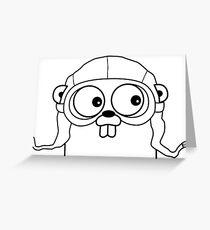 Go Language with headgear Greeting Card