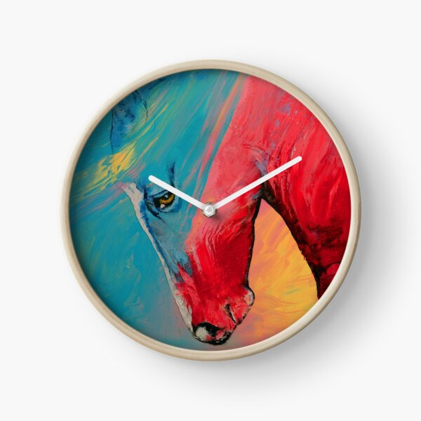 Painted Horse Clock