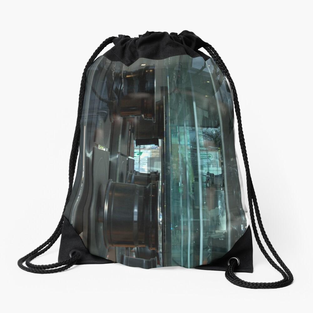 The Wheels Keep Turning Drawstring Bag