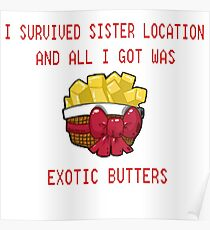 I Survived Sister Location and All I Got Was Exotic Butters  Poster