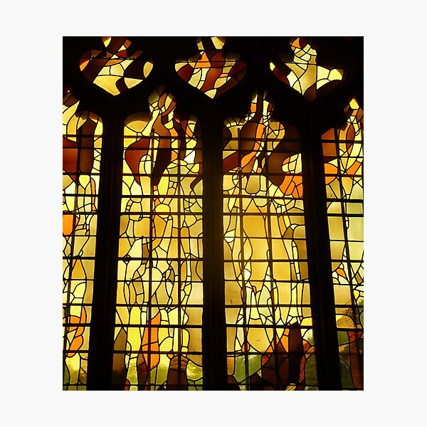 Autumn Stained Glass Photographic Print