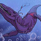 Liopleurodon's Bikini Mishap by Megan Dvorak