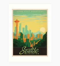 Vintage poster - Seattle Art Print
