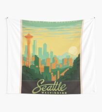 Vintage poster - Seattle Wall Tapestry