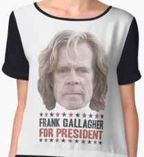 Frank Gallagher For President Women's Chiffon Top