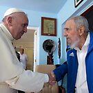 2015 Pope Francis at the home of Fidel Castro by Desiderata4u