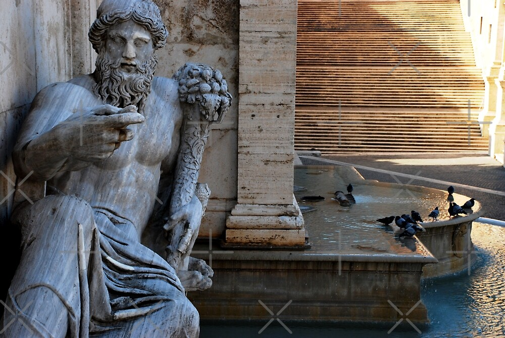 Fountain of the Goddess Roma  by Alessandro Pinto