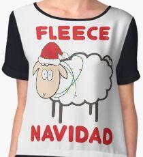 Fleece Navidad - Christmas Shirt Chiffon Top