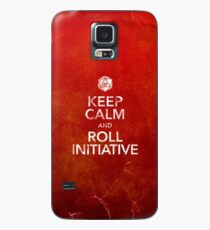 Keep Calm and Roll Initiative (Print) Case/Skin for Samsung Galaxy