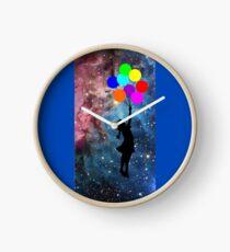 banksy ballon galaxy  Clock