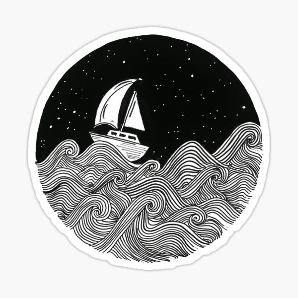 Sailing Away Sticker