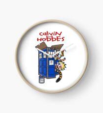 calvin and hobbes police box  Clock