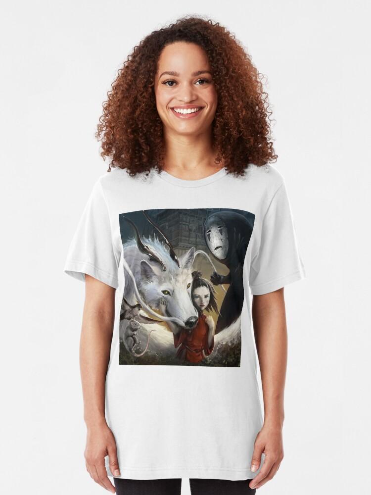 Alternative Ansicht von Chihiros Realistisch Slim Fit T-Shirt