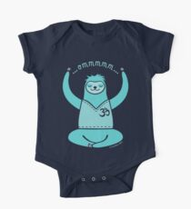Om Yoga Sloth - blue One Piece - Short Sleeve
