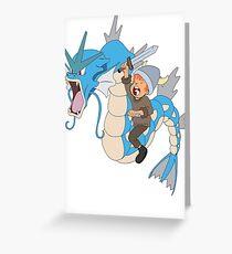 Gyarados pokemon Greeting Card