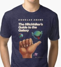 The Hitchhiker's Guide to the Galaxy - Cover Tri-blend T-Shirt