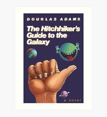 The Hitchhiker's Guide to the Galaxy - Cover Art Print
