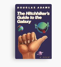 The Hitchhiker's Guide to the Galaxy - Cover Canvas Print