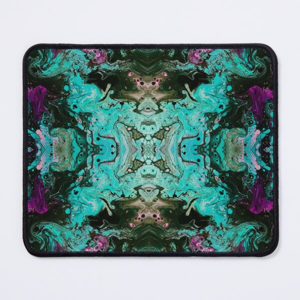 Teal Pink Psychedelic Fantasy by Electric Kitty Mouse Pad