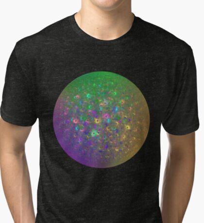 Planet Two #Fractal Art Tri-blend T-Shirt