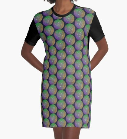 Planet Two #Fractal Art Graphic T-Shirt Dress