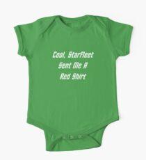 Cool, Starfleet Sent Me A Red Shirt (white text) One Piece - Short Sleeve