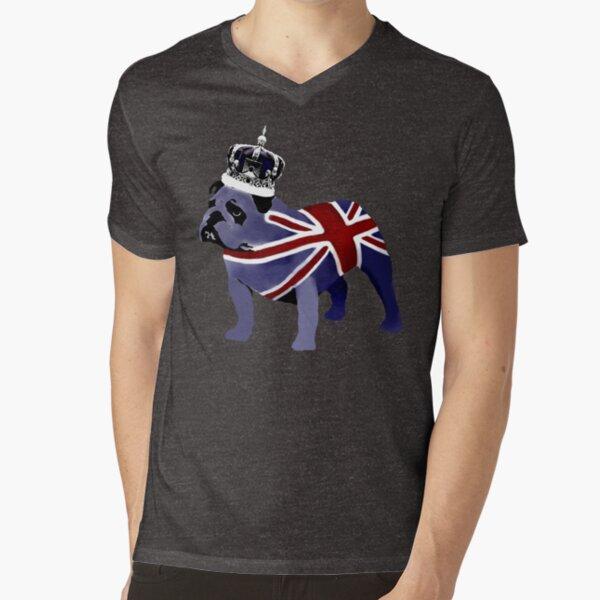 English Bulldog V-Neck T-Shirt