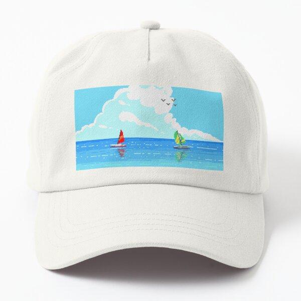 Pixel Art - Beautiful Beach Seaside Scenery Dad Hat