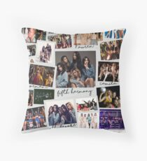 Fifth Harmony Vintage Shots Throw Pillow