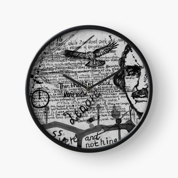 Edgar Allen Poe - The Raven - Dichter - Poet - Schriftsteller Uhr