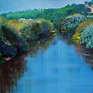 Along the River Exe - Devon Landscape Painting by MikeJory