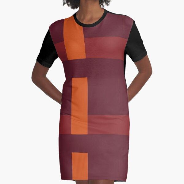 Lines, red, 4 - NESCI Graphic T-Shirt Dress