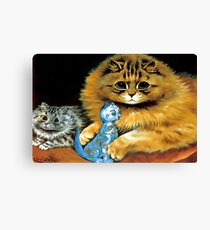 Vintage Doll Cat by Louis Wain Canvas Print