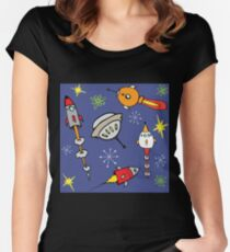 Space ships Women's Fitted Scoop T-Shirt