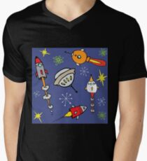 Space ships Men's V-Neck T-Shirt