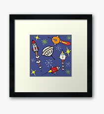 Space ships Framed Print
