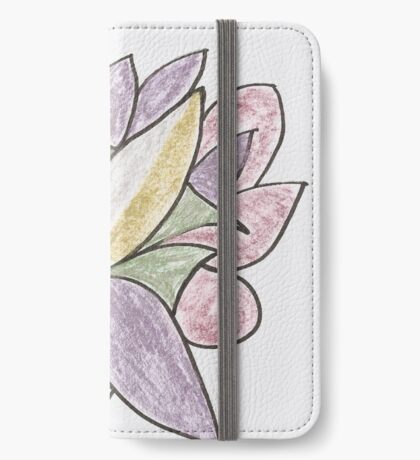 Carnivaled Flowers (a Bouquet of Pastel Colours) iPhone Wallet