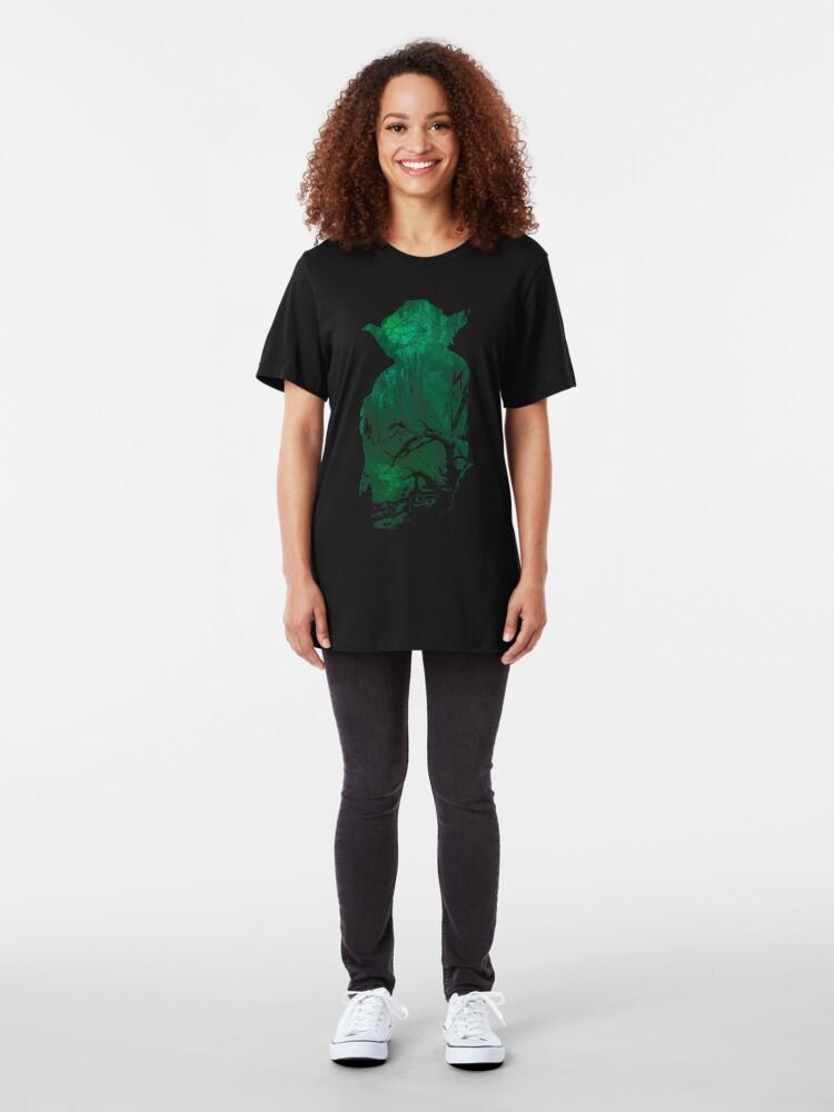 Alternative Ansicht von Kraft und Weisheit Slim Fit T-Shirt